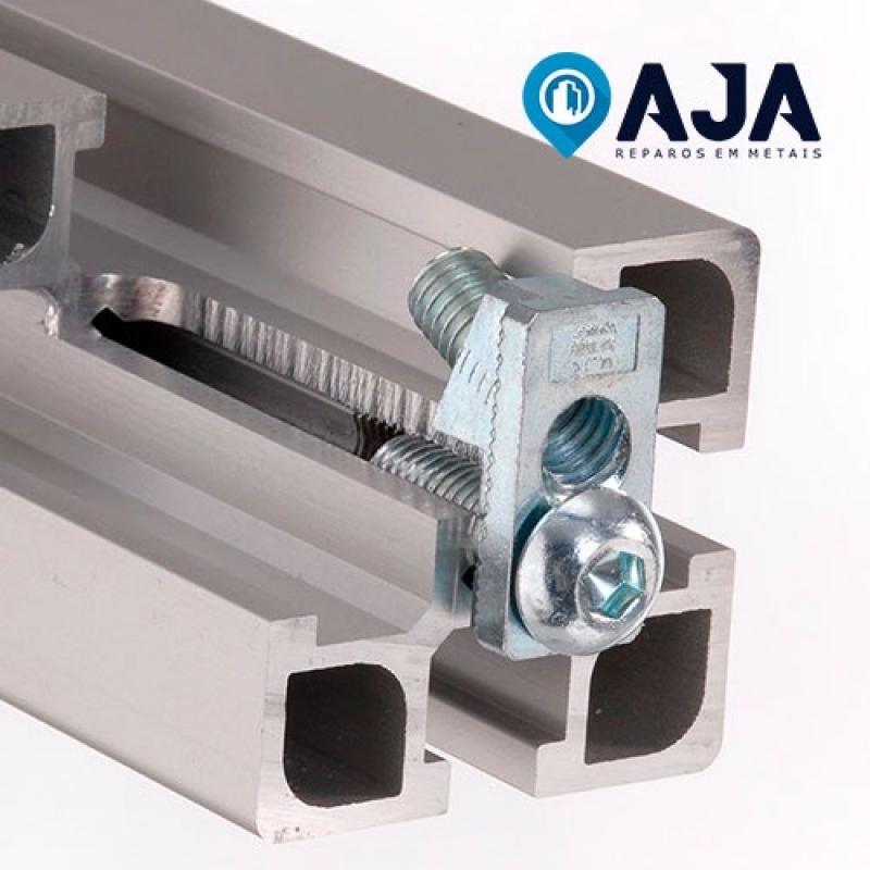 Onde Comprar Reparo de Perfil de Alumínio Estrutural 40x40 Praia de Maresias - Reparo de Perfil de Alumínio Drywall