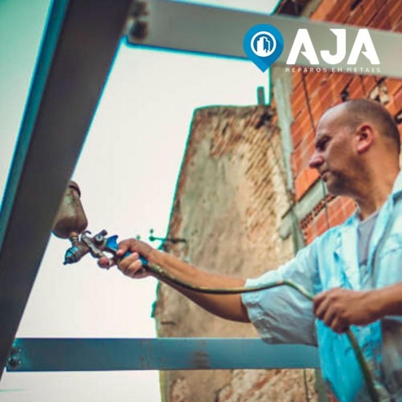 Pintura em Janela de Alumínio Vila Mariana - Pintura em Alumínio Eletrostática