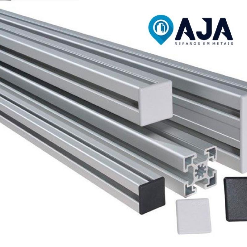 Quanto é Reparo de Perfil de Alumínio de 50x50 Cidade Universitária - Reparo de Perfil de Alumínio de 20x20
