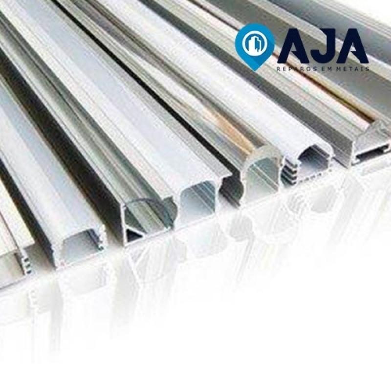 Reparo de Perfil de Alumínio de 50x50 Valor Mandaqui - Reparo de Perfil de Alumínio Duplo