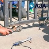 manutenção porta de alumínio preço Embu