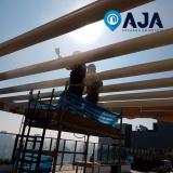pintura para estrutura metálica edifício