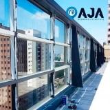 reparo de perfil de alumínio para cobertura de vidro orçamento Cajamar