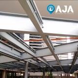 reparo de perfil de alumínio para cobertura de vidro